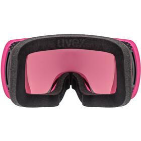 UVEX Compact FM Gafas, pink mat/fullmirror blue